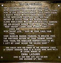 Emma Lazarus Poem